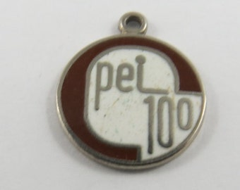 Enameled PEI 100 Sterling Silver Charm or Pendant.