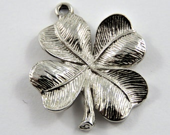 Four Leaf Clover Sterling Silver Charm or Pendant.