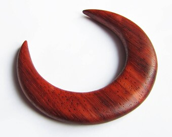 Wooden hair moon, padauk, moon fork, hair stick moon, bun holder, crescent moon, hair moon, haarmond, lune cheveux