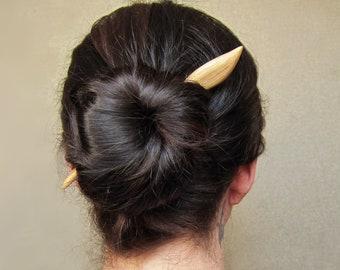 1 Wooden Hair Stick, hair stick wood, hairstick, hair stick leaf, hair pin wood, hair stick, hair pin, wood, wooden pin, haarschmuck