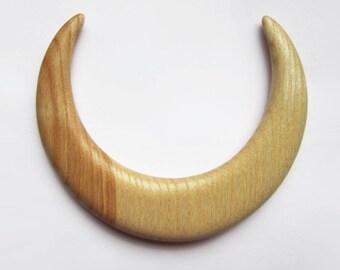 Wooden hair moon, moon fork, hair stick moon, bun holder, crescent moon, hair moon, haarschmuck, haarmond, hair moon fork