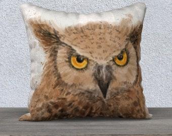 owl dad pillow