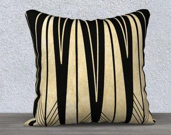 Art Deco triangles pillow cover
