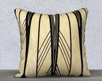 Art Deco stripes pillow