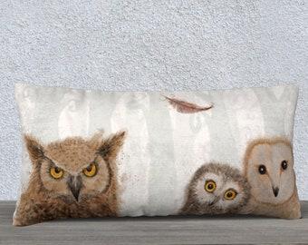 owl pillow case rectangular