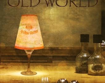 Classical Wine Glass Lampshade, Night Light