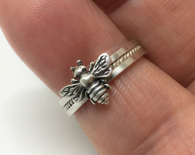 Honey Bee Ring, 925, Sterling Silver Ring, Apiary Jewelry, Handmade USA