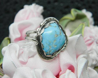 Handmade Southwest Turquoise Sterling Silver Ring