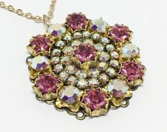 Sparkly Swarovski Crystal Pendant, 18 Inch Chain