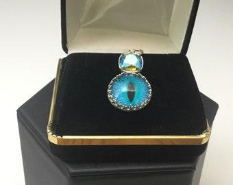 Handmade SS Dragon Eye and Swarovski Crystal Necklace