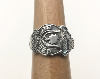 Handmade Silverplated ROLEX Souvenir Spoon Ring, Size 11, For Man or Woman