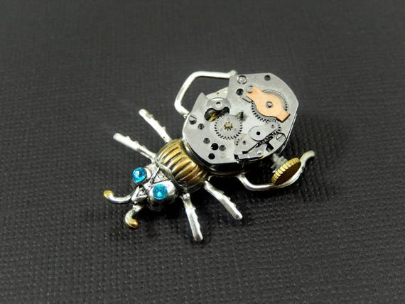 Steampunk Bug with 24k Gold Accents