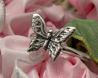 Handmade Sterling Silver Butterfly Ring