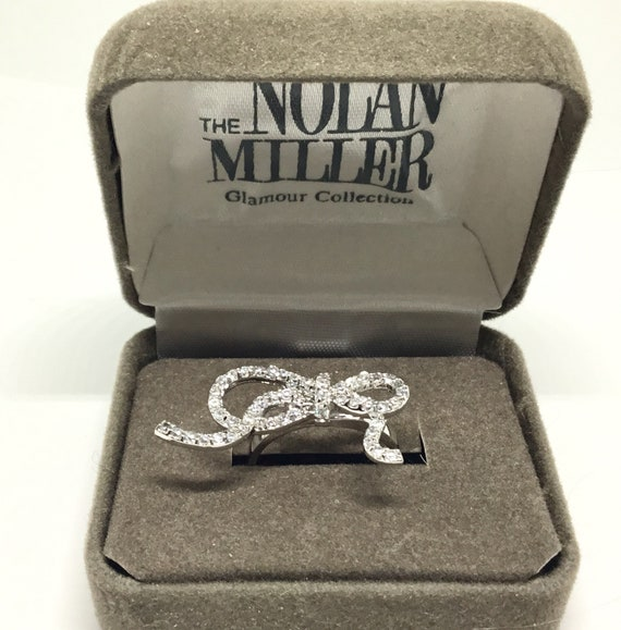 Nolan Miller Bow Ring, Barcelonian Bow, Clear Crystal Bow, Original Design, Wedding/Bridal