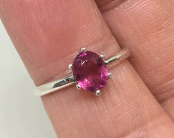Pink Tourmaline Ring Handcrafted Sterling Ring