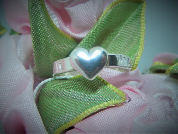 Sterling Silver, Heart Ring, Valentine Gift, 925 Sterling, Handmade in USA
