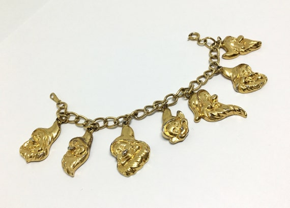 Vintage Disney Seven Dwarves Bracelet, Dwarf Name on Back, Goldtone, Disney Collectors, Snow White Lovers