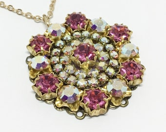 Sparkly European Crystal Pendant, 18 Inch Chain