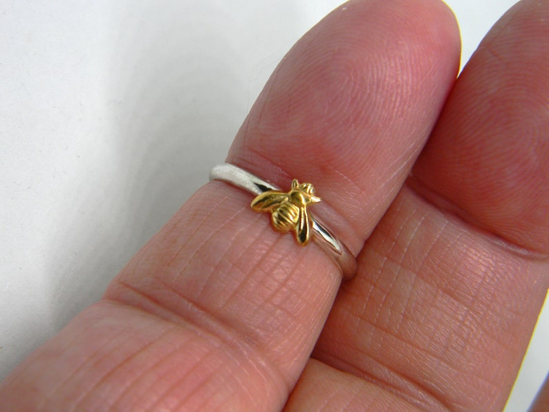 Silver bee ring 925 Sterling