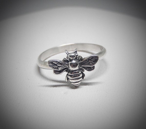 Sterling 925 Honey Bee Ring, Gift for Bee Lover, Made in USA