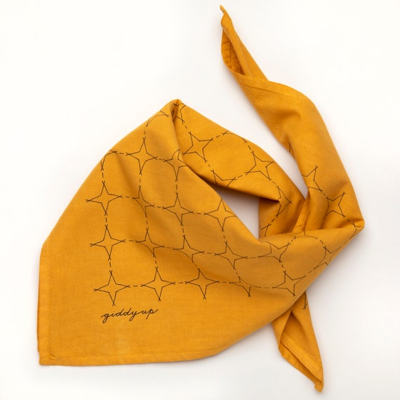 hand dyed and printed giddy up 100/% cotton bandana