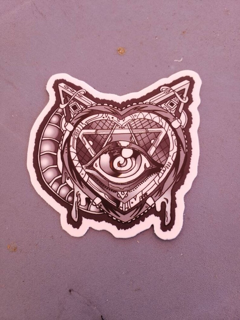 Heart Machine vinyl sticker Hand drawn