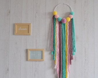 Dream catcher purple, turquoise, pink and yellow