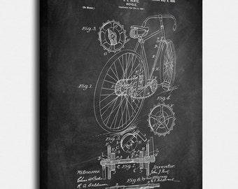 Bicycle blueprint etsy more colors bicycle canvases patent vintage art blueprint malvernweather Image collections