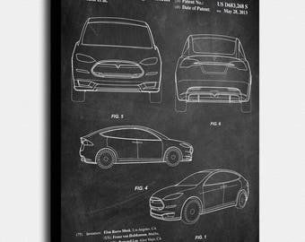 Tesla model s poster etsy more colors tesla model s malvernweather Choice Image