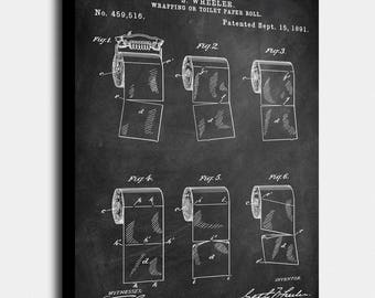 Toilet roll patents and toilet seat patent wall art poster set toilet paper canvas print toilet paper patents art blueprint poster malvernweather Image collections
