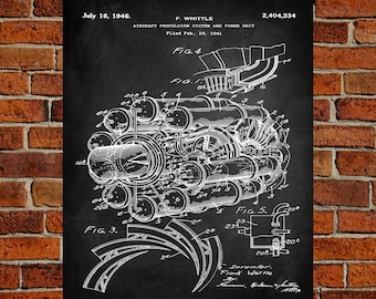 Aircraft blueprint etsy aircraft propulsion system art print patent aircraft propulsion system vintage art blueprint malvernweather Gallery