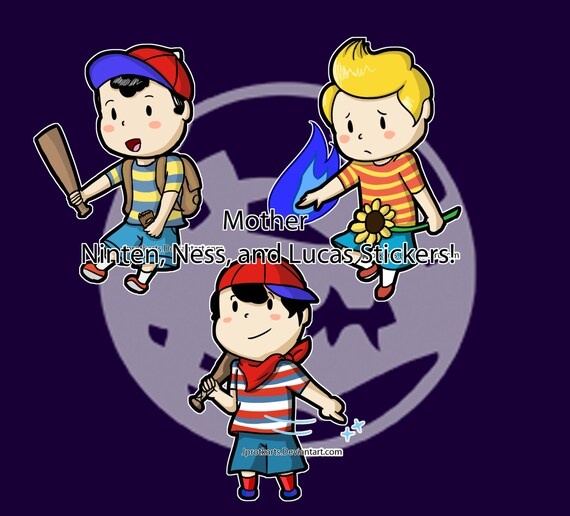 Items similar to Mother Series Ness, Ninten, and Lucas Chibi