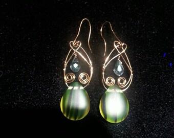 Chandelier vintage earrings