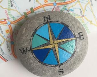 Travel Stone // kompas // cadeau voor reiziger // afscheidscadeau // vriendschapscadeau // talisman