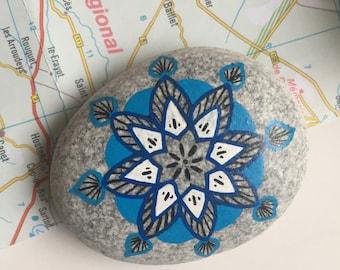 Travel Stone // cadeau voor reiziger // afscheidscadeau // vriendschapscadeau // geluksbrenger // talisman // mandala