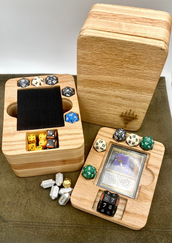 2in1 Solid Wood Commander Deck Box/Zone