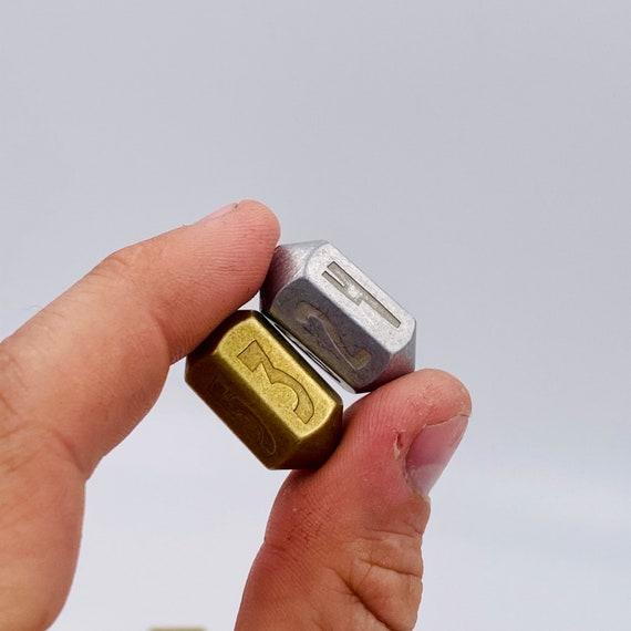 Solid Metal HEX D6 Dice