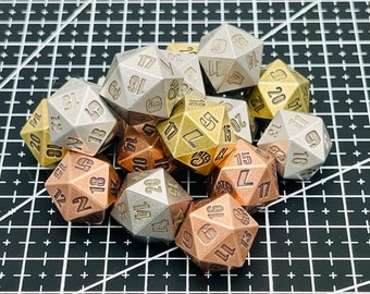 Solid Metal Precision Machined D20