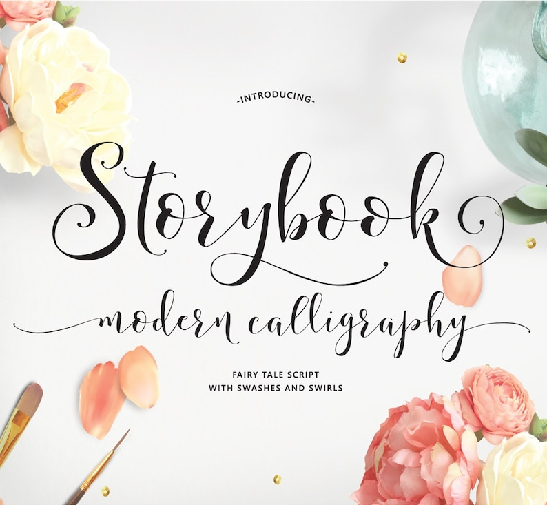 Storybook Hand-Lettered Calligraphy Script Font Commercial image 0