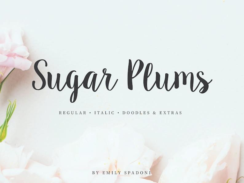 Sugar Plums Script  Hand-Lettered Font Download aka Sweet image 0