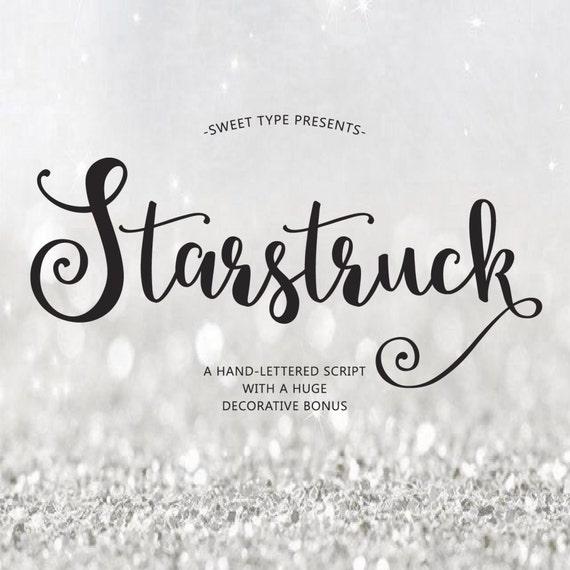 Starstruck Hand Lettered Font Download Calligraphy Script
