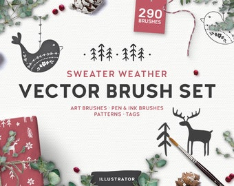 Sweater Weather Vector Brush Set