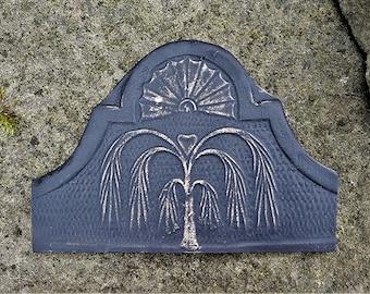 Willow and Heart Impression From 1800's Gravestone - Early Ohio Settlers - Huron County, Ohio History - Memento Mori, Alternative Art