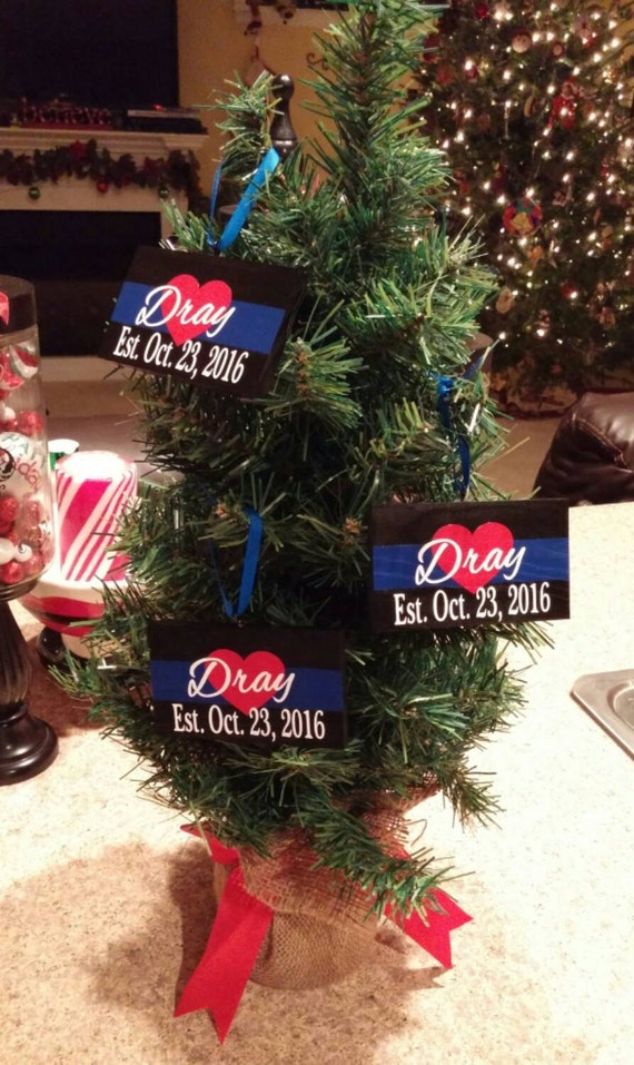 Police Christmas Ornaments.Thin Blue Line Police Wedding Ornament Police Officer Gifts Police Christmas Blue Line Ornament Police Wife Deputy Wife