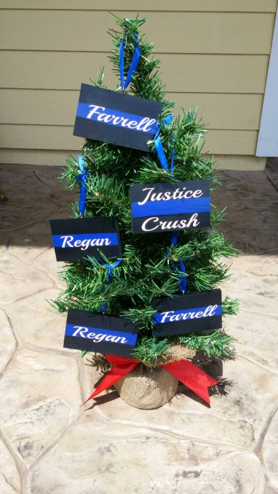 Police Christmas Ornaments.3 Thin Blue Line Christmas Ornaments Police Ornament Police Officer Gifts Police Christmas Blue Line Ornament