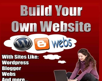 DIY Build a Website Tutorial for Beginners Webs and Wordpress Sites-Digital Download- Build Your Own Website Step by Step with photos