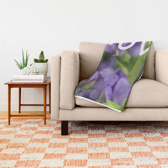 Amour, couverture de jet, violet, décor bleu, vert, moderne chambre ...