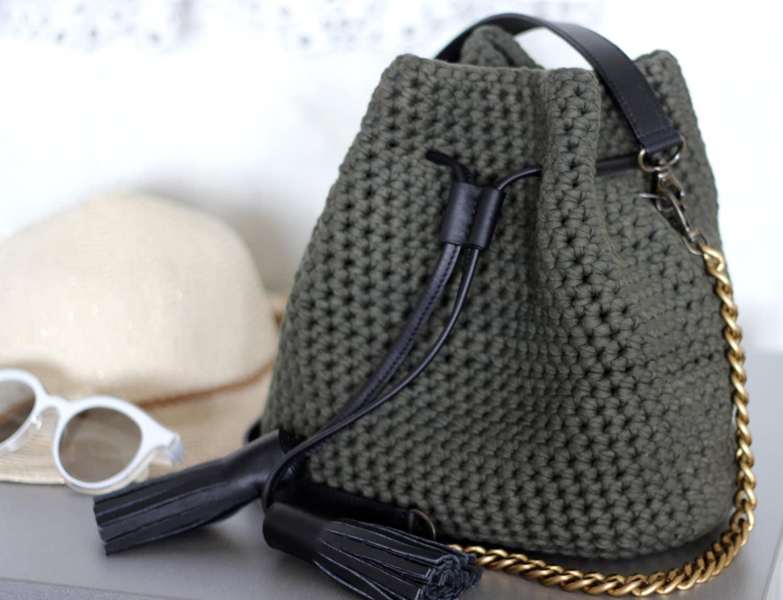 Crochet Bucket Purse Mini Bucket Bag 2019 Crochet Etsy