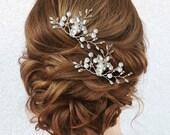 Wedding hair pin, Bridal hair pin, Pearl Hair pin, Crystal hair pin, Pearl hair pins, Wedding hair pins, Bridal hair pins