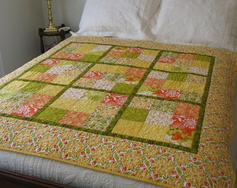 Sunshine quilted throw, FREE SHIPPING